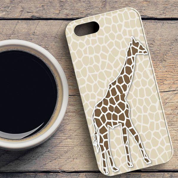 Giraffe Background Pattern iPhone SE Case   casefantasy