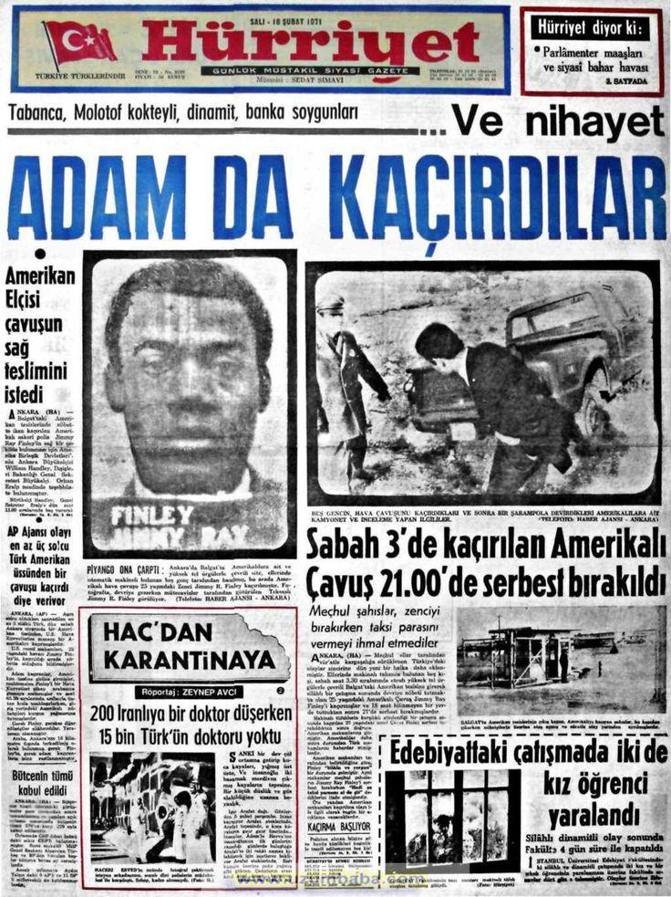 Hürriyet gazetesi 16 şubat 1971