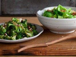 """CHUCK'S VEGGIE SIDE DISHES RECIPE: ~ From: """"COOKING CHANNEL.COM"""" ~ Recipes Courtesy Of: """"CHUCK HUGHES"""":  ~  (1)  CHUCK'S BRUSSELS SPROUT LEAF SALAD: / (2) FOR WARM BROCCOLI SALAD:  Chuck's Veggie Side Dishes"""