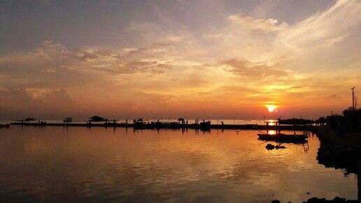 Sunrise in Pulau Harapan, Kepulauan Seribu, Jakarta, Indonesia by Bambang Hermanto