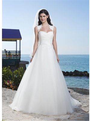 2015 Wedding Dresses White Ball Gown Sweetheart Sashes Zipper Organza Bridal Gowns