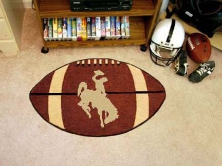 """Wyoming Cowboys 22"""" x 35"""" Football Mat"": For all those Wyoming Cowboys Fans out there:… #SportingGoods #SportsJerseys #SportsEquipment"