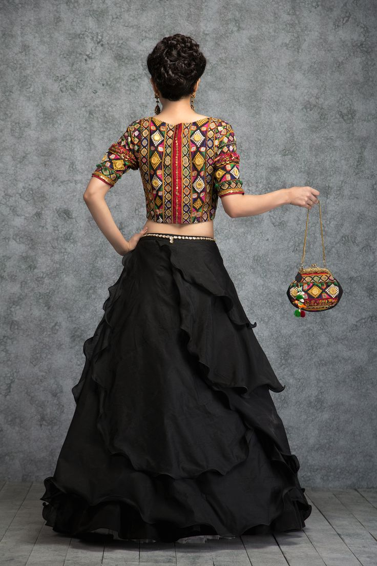 MULTI COLOURED KUTCHI CROP TOP & BLACK BEAUTY SKIRT - See more at: https://www.vemanya.com/productdetail/multi-coloured-kutchi-crop-top-black-beauty-skirt#sthash.IFrlhscl.dpuf