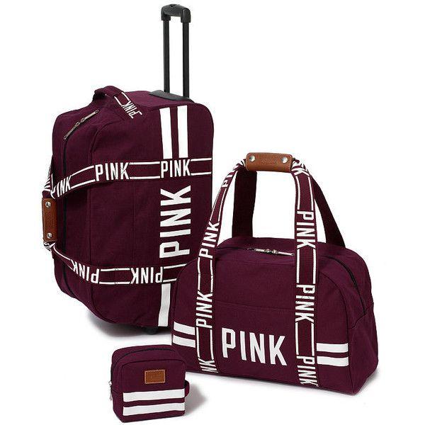 secret pink luggage sets