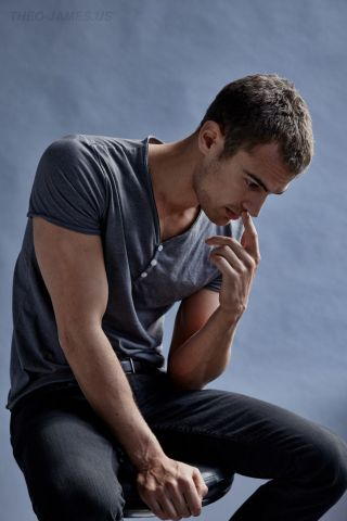 Theo James. I want him. In my mouth.