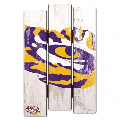 LSU Tigers Wood Fence Sign – Fan Shop HQ