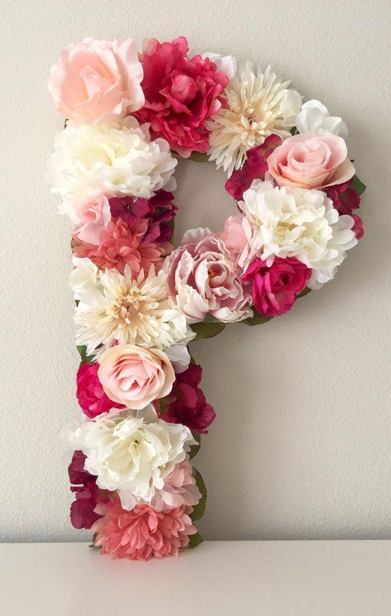 Flower Letter Floral Letter Shabby Chic Decor