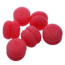 6 unids diseño portátil bolas esponja suave cuidado del cabello rizador de rodillos diy orange(China (Mainland))