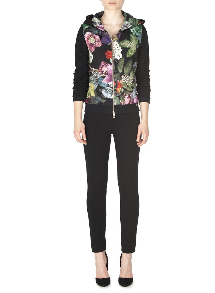 Naughty Dog FW1617 cardigan with zip decorated with Autumn prints