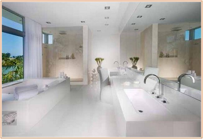Great share White Luxurious Bathroom Design