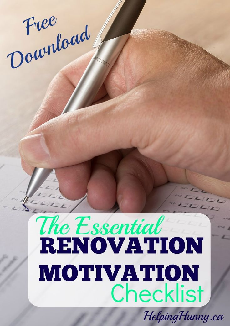 It can be challenging to stay motivated during renovations... Use this FREE Renovation Motivation Checklist to remember why you started in the first place!