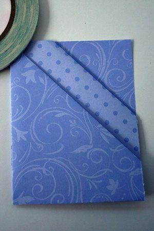 Diagonal double pocket card tutorial