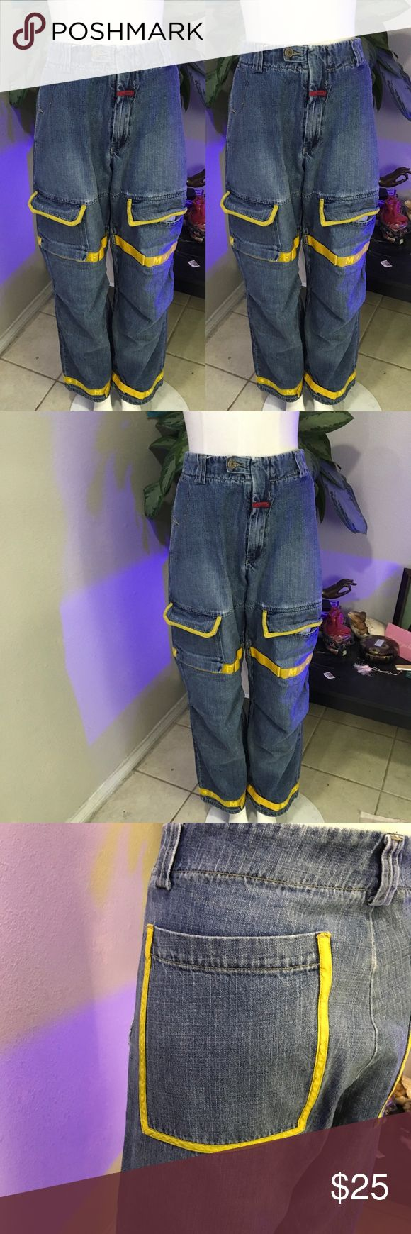 MARITHE FRANCOIS GIRBAUD 36 YELLOW PANTS JEANS Cute jeans by MARITHE Francois GIRBAUD Marithe Francois Girbaud Jeans