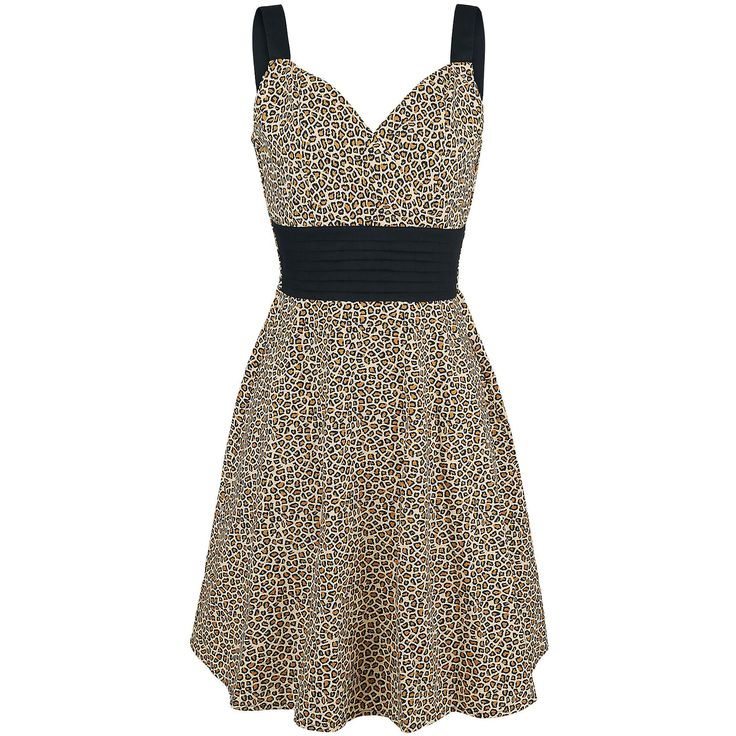 Wild Thing - Korte jurk van Rock Rebel by EMP leopard print luipaard animal black beige zwart jurk