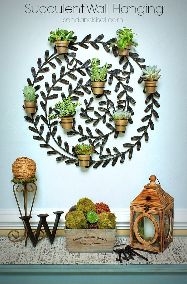 Succulent Wall Hanging upcycle project by Sand & Sisal