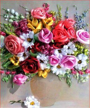 Ribbon Roses (80 pieces)