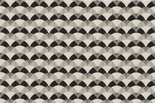 Black White Fabric Modern Drapery Fabric by PopDecorFabrics