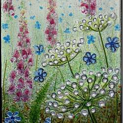 fused glass flower panel - Google Search