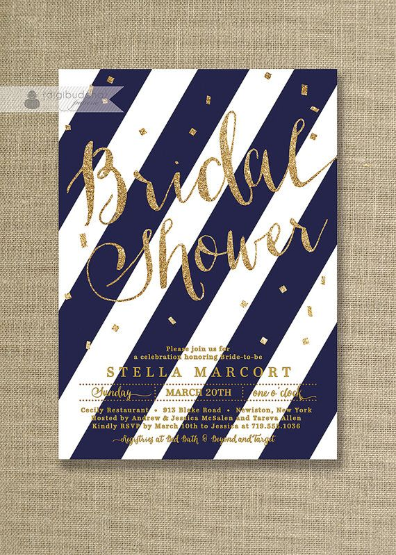 Hey, I found this really awesome Etsy listing at https://www.etsy.com/listing/182097132/navy-gold-glitter-bridal-shower