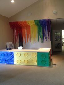 workshop of wonders vbs decorations - Google Search   So cute for a bday party; kid play area at home and of course, VBS!
