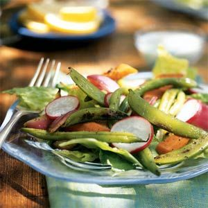 Grilled Vegetable Salad with Creamy Blue Cheese Dressing | MyRecipes.com #myplate #dairy #vegetables