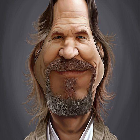 Jeff Bridges art | decor | wall art | inspiration | caricature | home decor | idea | humor | gifts