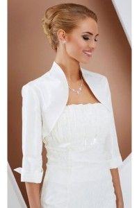 boleros en satin noir ivoire blanc mariage accessoires - Bolero Mariage Blanc