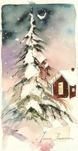 winter watercolor