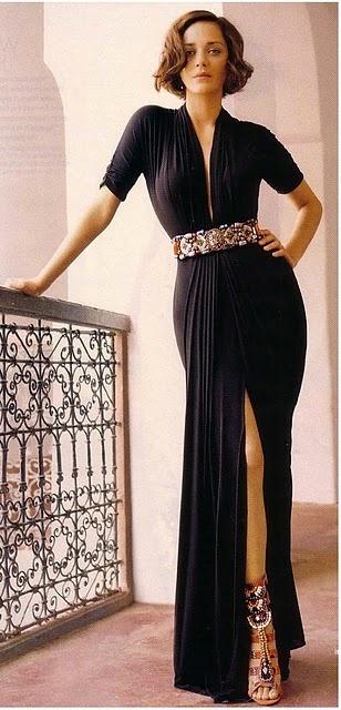 Marion Cottillard: Girls Crushes, Maxi Dresses, Marioncotillard, Reem Acra, Black Dresses, Outfit, French Beautiful, Marion Cotillard, The Dresses