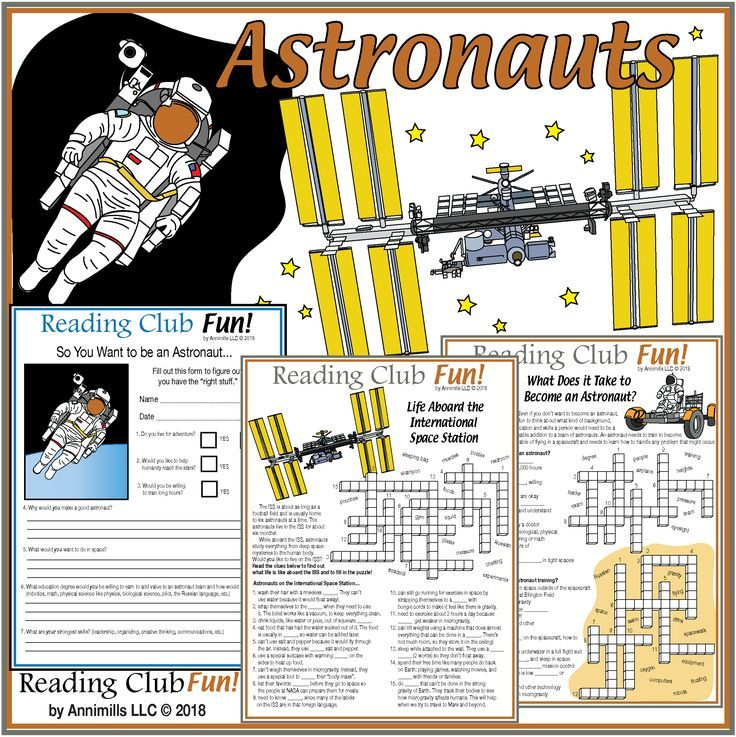 Astronaut Careers International Space Station Puzzles And