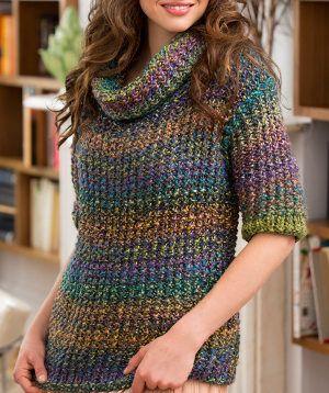 Painted Glass Sweater | AllFreeKnitting.com