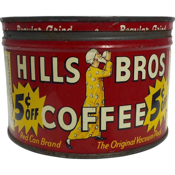 Vintage Hills Brothers Coffee Tin c. 1940's