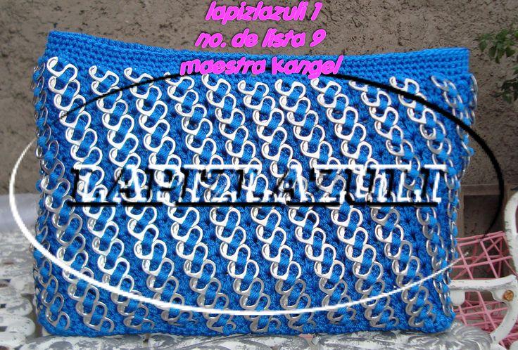 Curso de bolsas tejidas con fichas lacres por kangel                                                                                                                                                                                 Más
