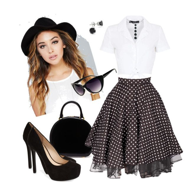 Retro by sandra-briand on Polyvore featuring polyvore, Mode, style, Hallhuber, Jessica Simpson, Simone Rocha and Wet Seal