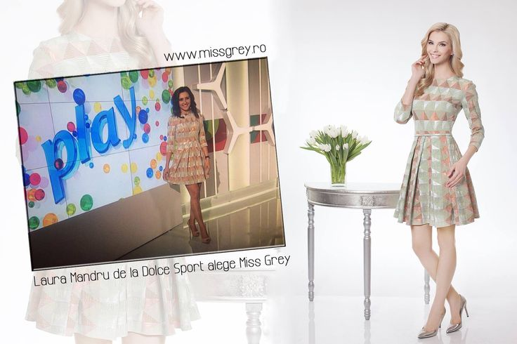 The short day dress with geometric print, made of brocade, was chosen by beautiful Laura Mandru from Dolce Sport TV :): https://missgrey.ro/ro/produse-noi/rochie-marvina/296?utm_campaign=colectie_mai&utm_medium=rochie_malvina&utm_source=pinterest_produs