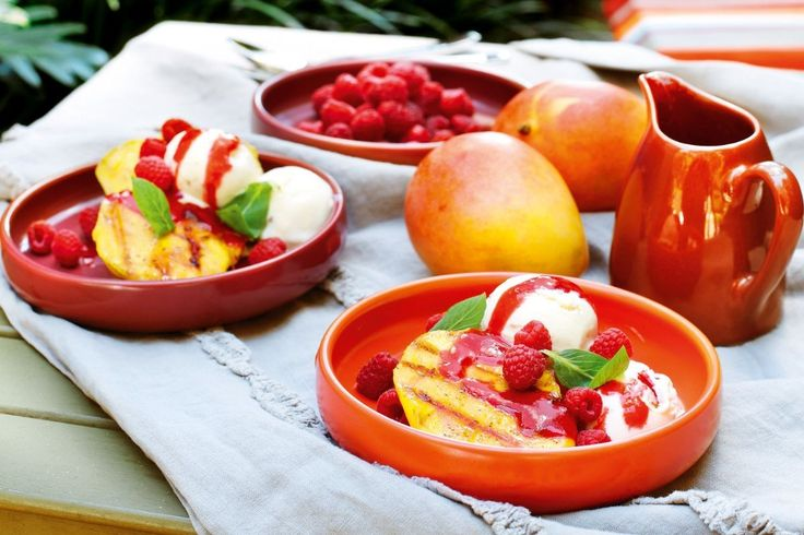 Mango Melba with sweet raspberry sauce is an easy summer dessert showcasing homegrown flavours.