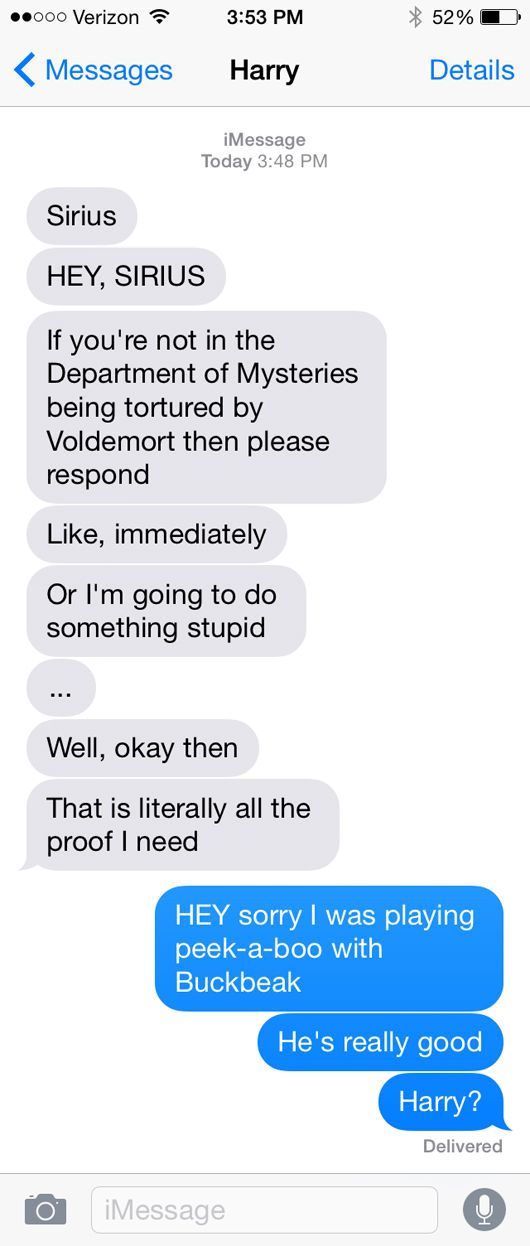 SparkLife » If Fictional Characters Could Text...