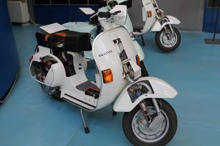 1985 Vespa 125 Pk Cut Away Scooter On Display At The Piaggio Museum