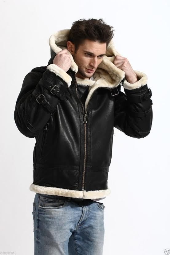 Inspire from daring aircraft group protect us from enemies. Present you B3 Bomber Removable Hood Shearling Jacket made up of genuine sheepskin with inward shearling lining give comfortable feel and keeps you warm in winter. Now available the stunning outfit in our store at best price.