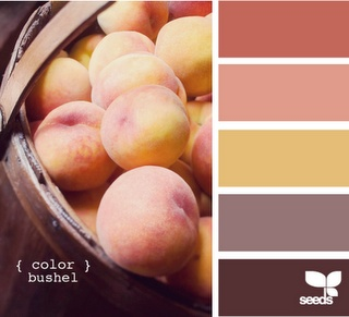 17 best ideas about peach color schemes on pinterest - Peach color paint palette ...
