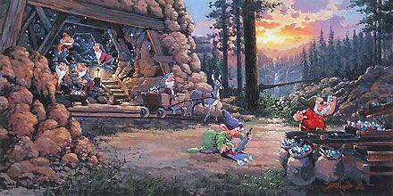 Snow White and the Seven Dwarfs - Where a Million Diamonds Shine - Rodel Gonzalez - World-Wide-Art.com - $650.00 #Disney #RodelGonzalez