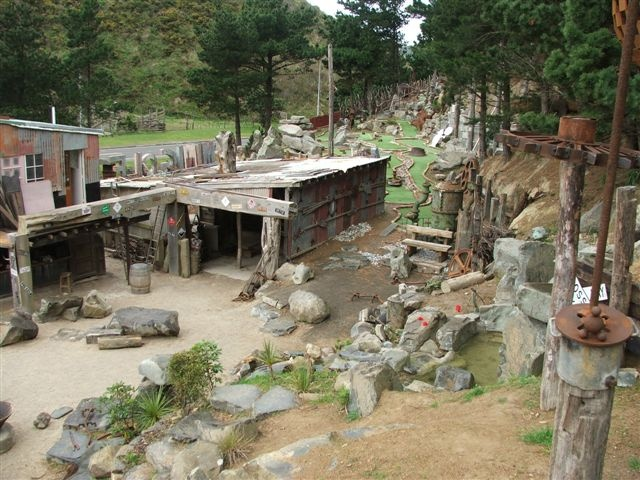 """""""Carlucci Land"""", mini golf course and sculptures in Happy Valley, Wellington, New Zealand"""