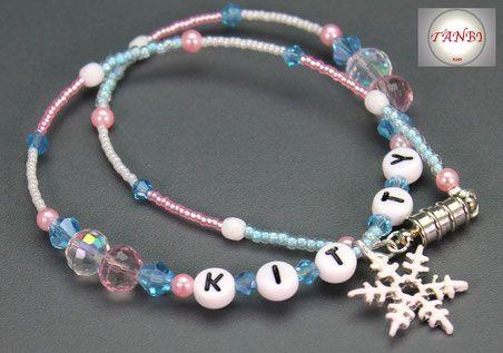 Kinderkette, Kette, Winterkette, Schneeflocke, Eiskristall, Schnee