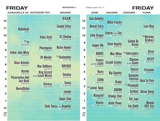 See The 2017 #Coachella Schedule!