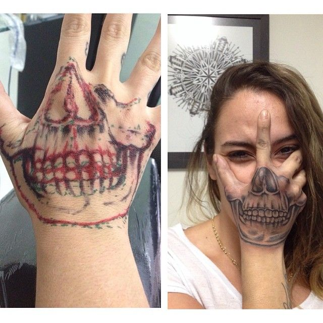 Mão de caveira! #tattoo #tatuagem #tatouage #skull #atitude