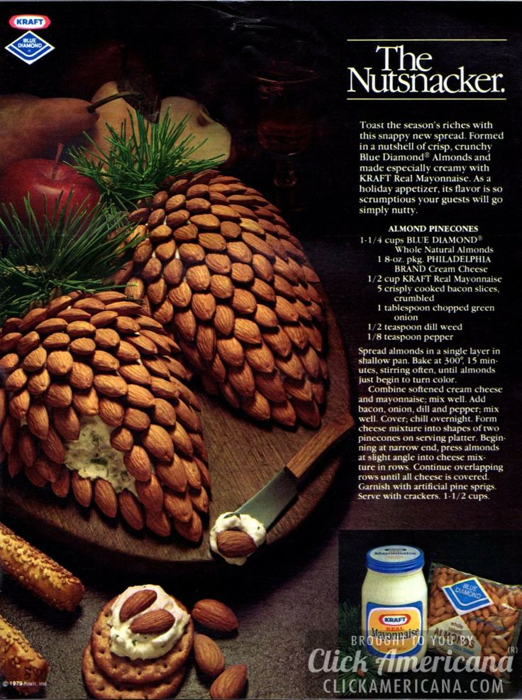 Nutsnacker: Almond pinecone cheese appetizer (1980)