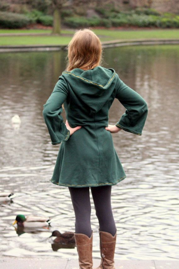 Elven tunic for women Medieval tunic Pixie hoodie Psy by tatoke