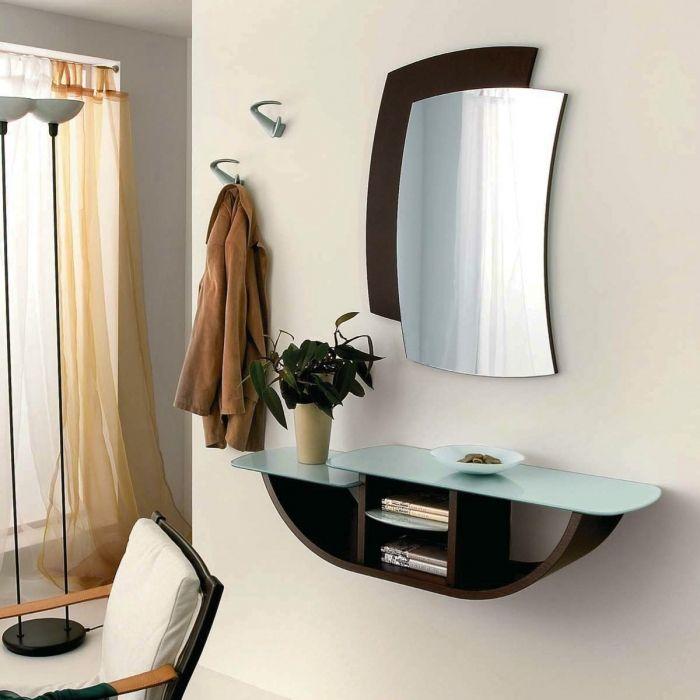 Meubles d entrée Gondola posé d une console un miroir et une pat¨re pour