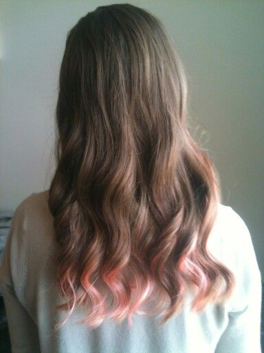 An Alyson Trapp Matertua Original--pink tips and light brown/dark blonde ombre
