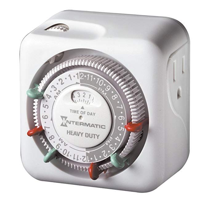 Intermatic Tn311c 2 Pack Heavy Duty Grounded Timers Review With Images Timer Lights Timer Outlet Timers